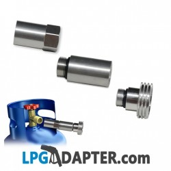 euro nozzle gas adapter to acme w22