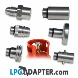 LPG bottle filling adapter set POL