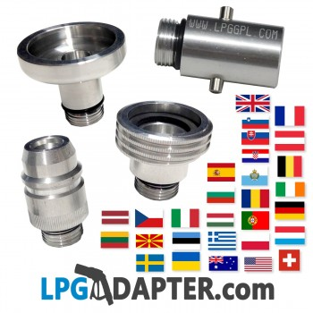 autogas lpg filling adapter UK for continent France Germany Spain Gaslow