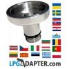 dish lpg autogas DREHMEISTER DISH filling point adapter Ø22mm 1 ¾ x W 21,8