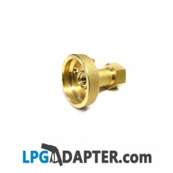 w21.8 left hand reverse thread to Dish LPG adaptor