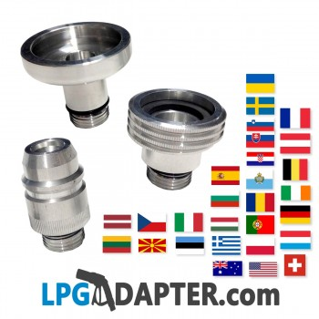 Set of 3 travel European Lpg Autogas Propane Adapters
