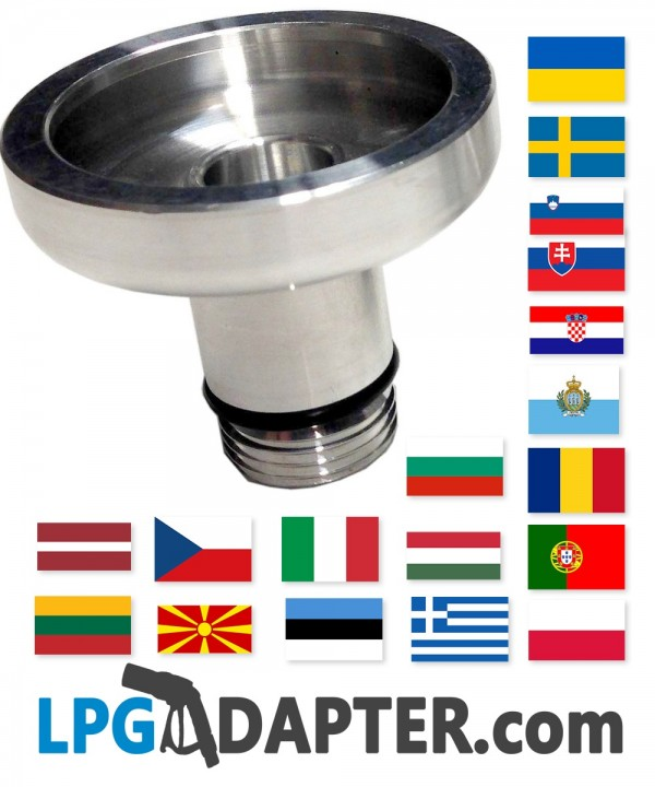 Uk Bayonet W21 8 To All Of Europe Lpg Autogas Adapters